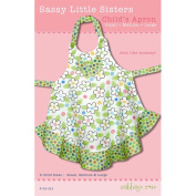 "CABBAGE ROSE ""SASSY LITTLE SISTERS CHILD'S APRON"" Sewing Pattern"