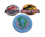 Athena Jurassic Park (3-Pack) Embroidered Sew/Iron-On Patch Appliques