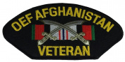 OEF AFGHANISTAN VETERAN W/ RIBBON AND CROSSED SCIMITAR PATCH - Multi-coloured - Veteran Owned Business
