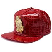 MCSAYS Fashion Hip Hop Style Crystal CZ Iced Out Praying Hnads Jesus Pendant Adjustable Snapback PU Leather Baseball Cap/ Hats Sports Hat