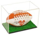 Deluxe Acrylic Collectible NCAA / Mini Football Display Case with UV Protection
