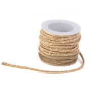 ROSENICE 5M Natural Jute Twine for Crafts Roll of Twine Garden Twine String