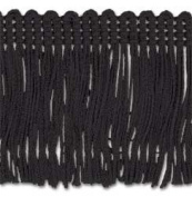 Trimplace Black 5.1cm Rayon Chainette Fringe 9 Yards