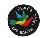 Peace On Earth Hippie Bird DIY Embroidered Sew Iron on Patch