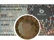 Smoked Topaz HOTFIX, 1440 Preciosa Genuine Czech Crystals 20ss Viva12 Iron-on, ss20, 5mm