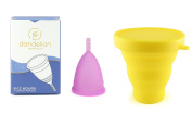Dandelion Cup Menstrual Cup - Size 2 - Orchid Plus Yellow Menstrual Cup Washing Container