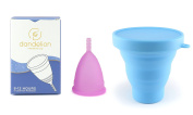 Dandelion Cup Menstrual Cup - Size 2 - Orchid Plus Blue Menstrual Cup Washing Container