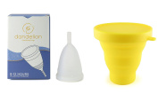 Dandelion Cup Menstrual Cup - Size 2 - Lily Plus Yellow Menstrual Cup Washing Container