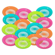 1 Dozen of Reusable Plastic Holder for 23cm Paper Plates Bright Colours, By Tzipco