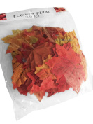 50 PCS Artificial Fall Maple Leaves in a Mixture of Autumn Colours Table Scatters for Fall Weddings & Autumn Parties