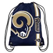 NFL Football Drawstring Backpack Gym Back Pack Sack Bag Tote Striped Big Logo