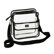 Deluxe Clear Cross-Body Messenger Shoulder Bag Adjustable Strap - NFL Stadium Approved Purse