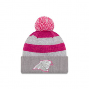 Women's New Era Grey 2016 Breast Cancer Awareness Sideline Cuffed Pom Knit Hat