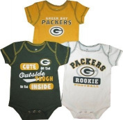Green Bay Packers 3pc Creeper Set Colour Infant Baby Cute
