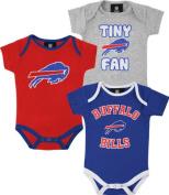 Buffalo Bills 3pc Creeper Bodysuit Set Infant Baby Tiny Fan
