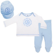 Pittsburgh Steelers Baby Boy Footed Pants, Hat and T-Shirt Set - Blue
