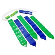 WYZworks 36 Flags & 12 Belts - Hook and loop Flag Football Set - 18 Green Flags & 18 Blue Flags