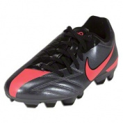 Nike Total90 Shoot IV FG - Big Kids - Dark Grey/Black/Solar Red