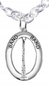 "Band ""Clairinet Player"" Hypoallergenic Adjustable Necklace, Safe-Nickel, Lead Free"