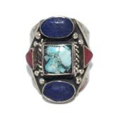 Turquoise Ring, Lapis Ring, Tibetan Ring, Nepal Ring, Gypsy Ring, Bohemian Ring