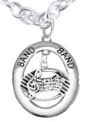 "Band ""Music Notes"" Hypoallergenic Adjustable Necklace, Safe-Nickel, Lead Free"