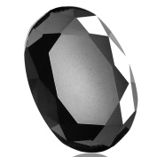 Skyjewels Black Diamond Solitaire Oval Cut 5.00 ct.Earth mined CERTIFIED