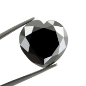 Skyjewels Black Diamond Solitaire Heart Checker Cut 2.40 ct.Earth mined.CERTIFIED