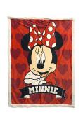 "Disney Minnie Mouse 40"" x 50"" Plush Sherpa Throw Blanket"