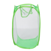 For Use To Storage In The Living Room,Coper New Foldable Pop Up Washing Clothes Laundry Basket Bag Hamper Mesh Storage