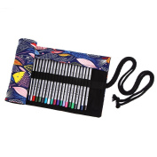 Pencils Cases for School, TopRay Multipurpose 72 Slots Travel Drawing Colouring Pencil Roll Organiser For Artist, Pencils Pouch Case Hold For Pencils (Pencils are NOT INCLUDED)