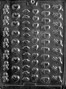 Valentine Mini Bite Size Chocolate Candy Moulds Heart Lips Cupid Chocolate Mould Party Favours Ships Same Day m340