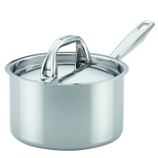 Anolon 31506 1.9l Tri-Ply Clad Covered Saucepan, Medium, Stainless Steel