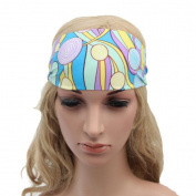Sunward Fashion Stretchy solid colour/Boho printed Sports Yoga running Headband,fashion soft comfortable headband hairband for sports travel