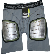 "Nike Men's Pro Combat Hyperstrong ""Hard Plate"" Grey Girdle Shorts Size"