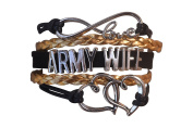 Army Wife Jewellery, Army Wife Bracelet, Proud Army Wife Charm Bracelet - Makes Perfect Gift for Wife
