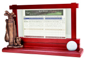 Clubhouse Collection Golf Gifts and Gallery Score Card Holder and Ball Holder
