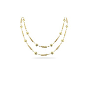 Gold Platted Double Strand Silver Necklace 90cm