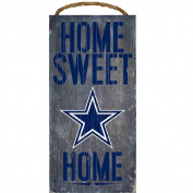 NFL Football 15cm x 30cm Home Sweet Home Wood Sign