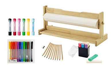 ikea art drawing kit includes mala paper dispenser paper roll coloured markers coloured. Black Bedroom Furniture Sets. Home Design Ideas