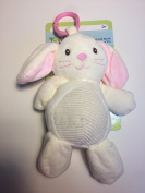 Kellybaby Plush Ivory Bunny with Rattle Clip-on Pram Toy