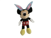 Disney Baby Mickey Mouse Easter Bunny Plush Rattle 20cm