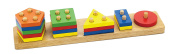 Geometric Block Sorter - 4 different shapes and many colours