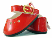 Red Patent Dress Shoes for Bitty Baby Doll by Doll Clothes Sew Beautiful