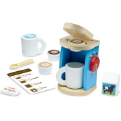 11 Piece Wooden Brew and Serve Coffee Set, Play Coffee Set