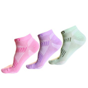 3 Pack Breathable Invisible Ankle Socks - Hiking Short Crew Sock - Thermal Low Cut Socks - Walking Running Seamless Sock - Lightweight No Show Sock with wicking moisture - Fit for Climbing Cycling Camping Trekking Outdoor Sports Travel - Women Size UK ..