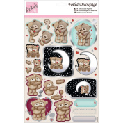 docrafts ANT169602 Anita's A4 Foiled Decoupage Sheet, Knitted Bears, Multicolor