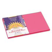 Construction Paper, 26kg., 12 x 18, Hot Pink, 50 Sheets/Pack, Sold as 50 Sheet