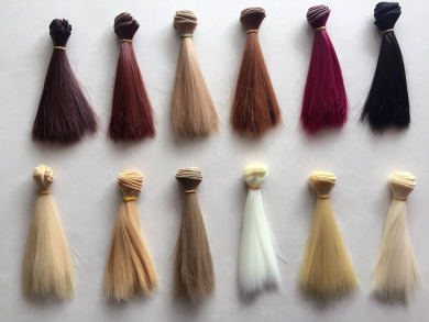 Set Of 12 Colour SD Doll DIY Straight Hair 15cm100cm BJD/- For Arts and Crafts, Doll Making, and More