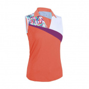 Monterey Club Ladies Dry Swing Water Fountain Contrast Coloblock Sleeveless Shirt #2345