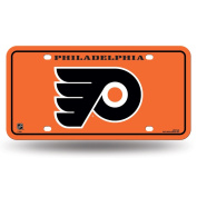 Rico Industries, Inc. Flyers Metal Orange Licence Plate